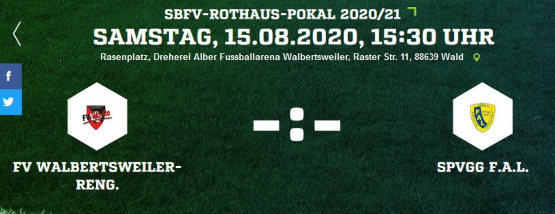 SBFV-Pokal: FV WaRe gegen SpVgg FAL